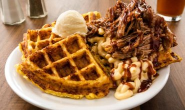 Metro Diner shows how to make Pulled Pork Mac Stack and other new menu items